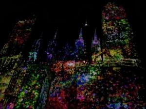 Laser show in Rouen