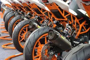 KTM Bikes row