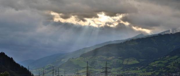 Австрия. Солнечные лучи