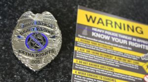 Cop Block Badge and Outreach Flier