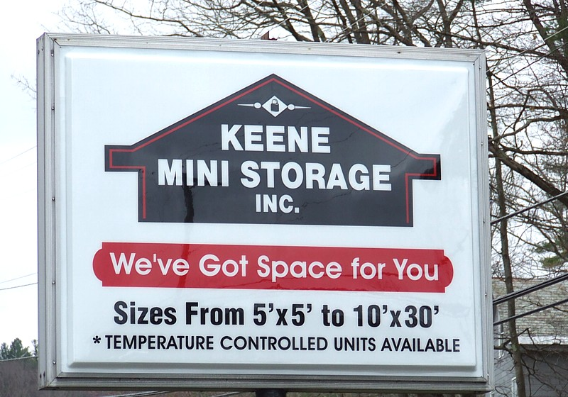 Keene Mini Storage Sign