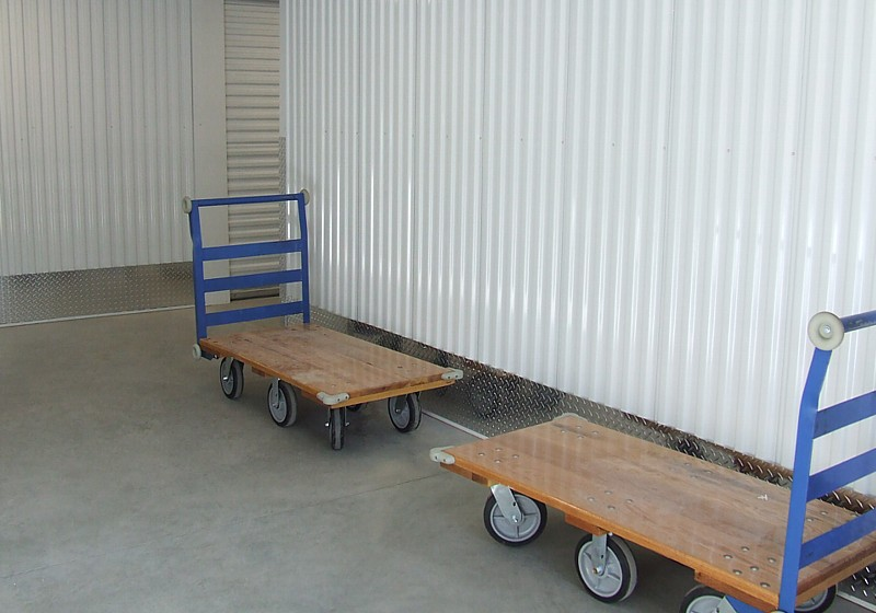 carts to bring your belongings to your temperature controlled unit