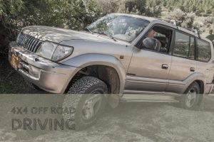 person doing off road driving