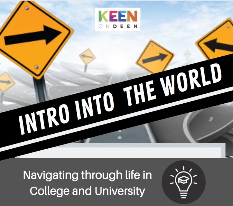 Intro into the world, Navigating through life in college and university poster