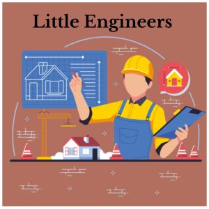 engineer with construction blueprint