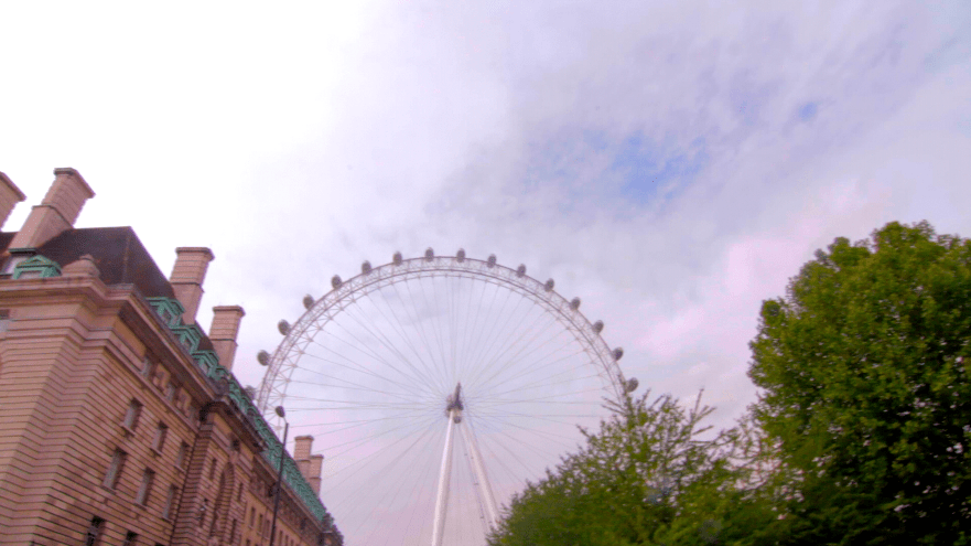 London eye and the sky