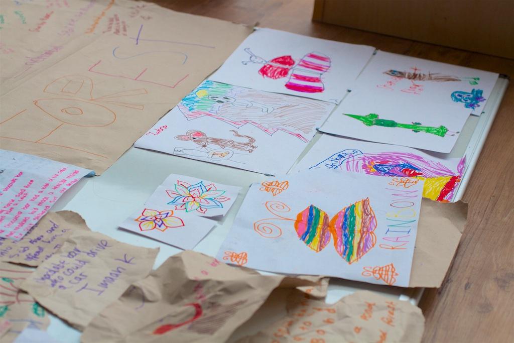 Storyboard the children drew