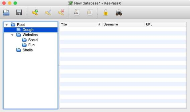 interface keepass X