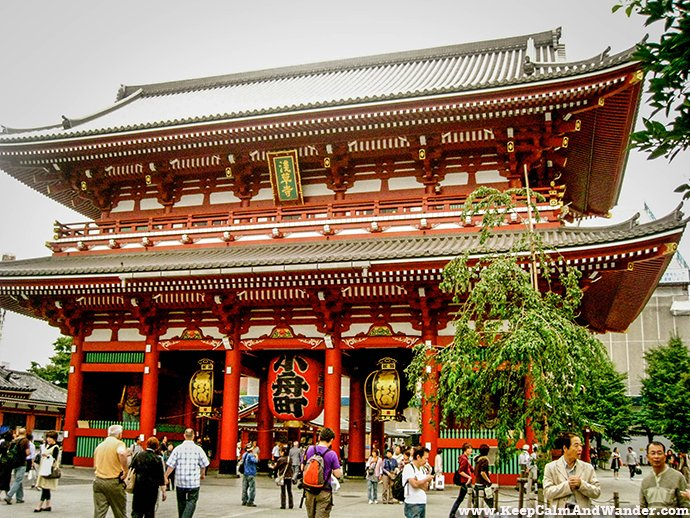 Sensoji Temple is a Buddhist Temple in Tokyo, Japan.