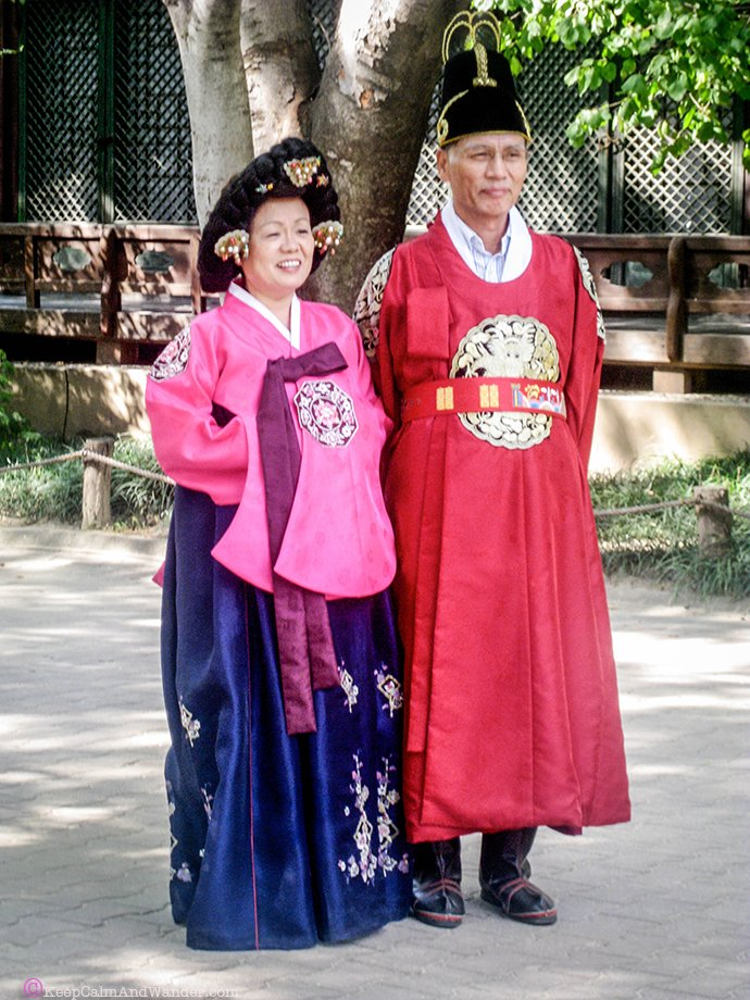 The villagers at Korean Folk Village in Suwon, Seoul, South Korea.
