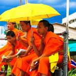 Young Monks in Bangkok