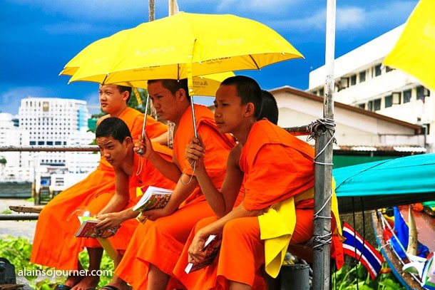 Young Monks in Bangkok, Thailand.
