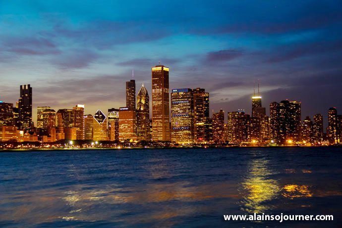 Chicago Skyline Night 5