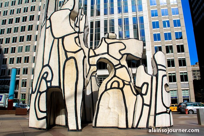 Monument with Standing Beast Chicago Public Art Jean Dubuffet