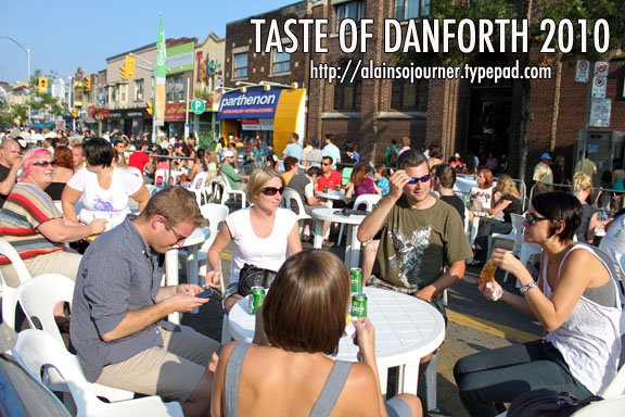 Patios are common fixtures during Taste of the Danforth.