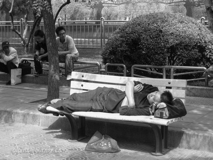 Life in China Outdoor Nappers Beijing 32
