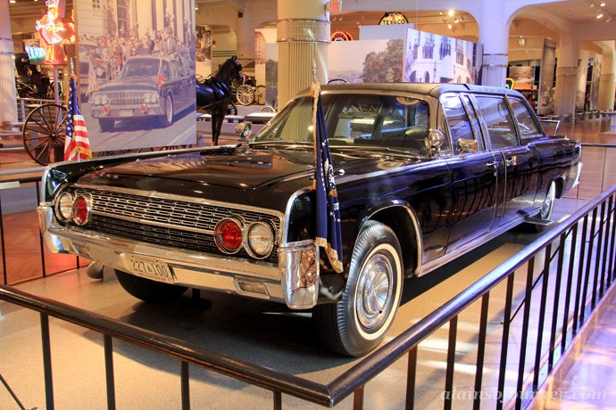 John F. Kennedy's (JFK) car at Henry Ford Museum in Detroit.