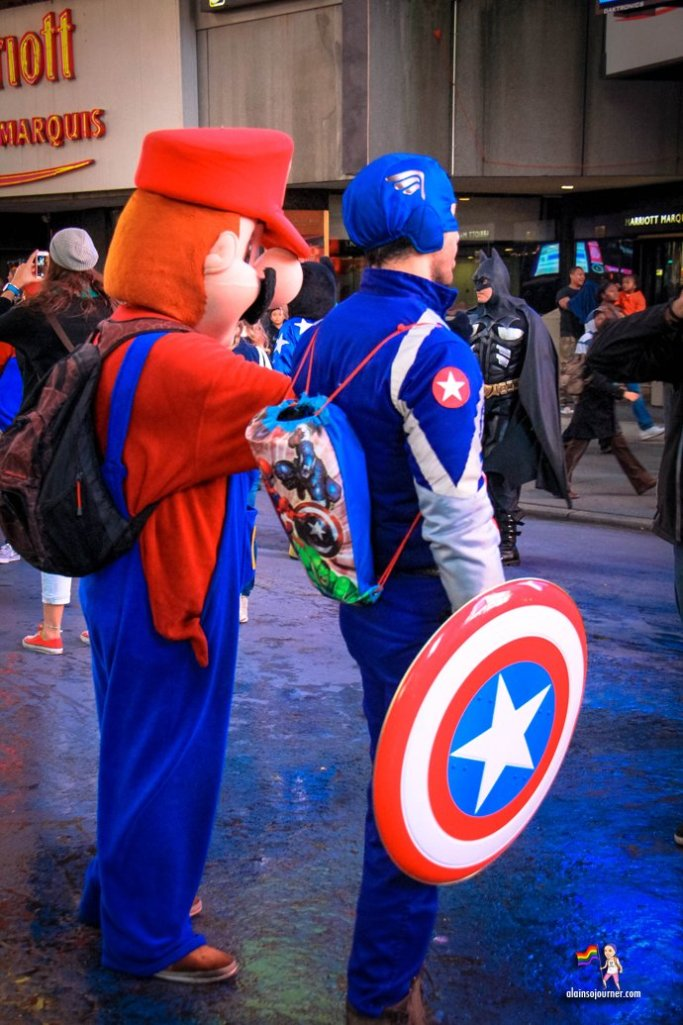 Times Square Buskers Captain America