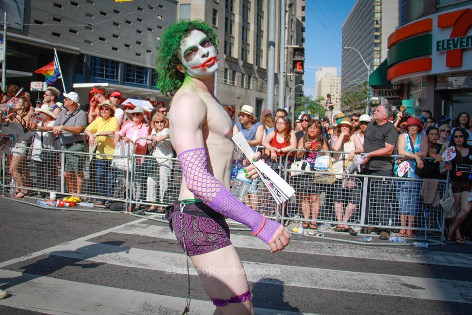 Joker at World Pride Parade Toronto 2014