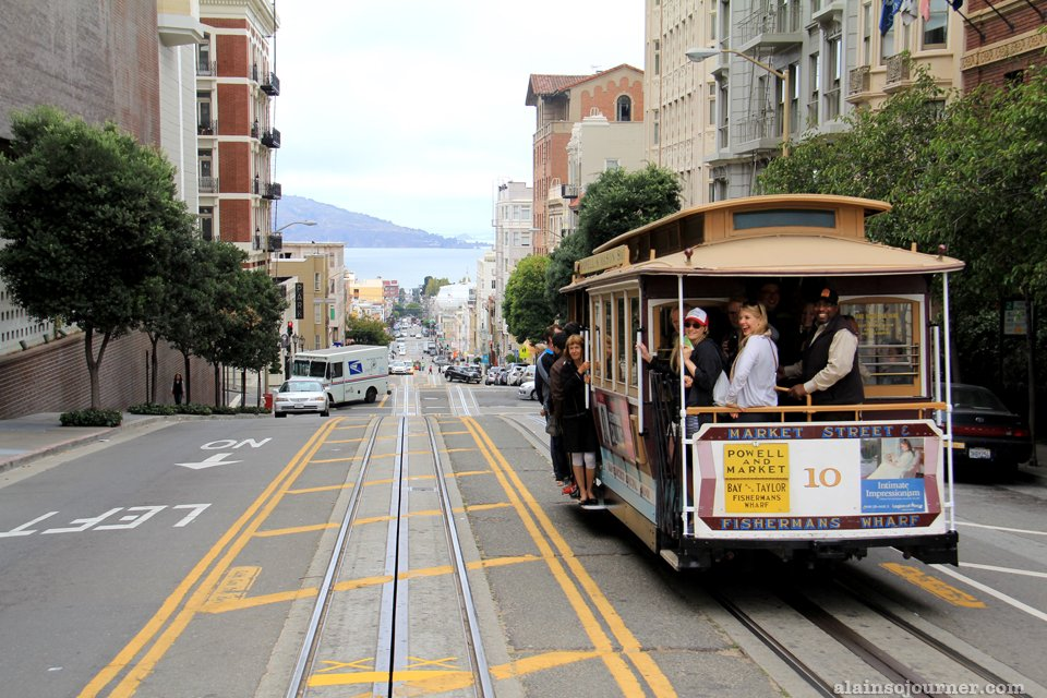 Hopping on the cable cars in San Francisco