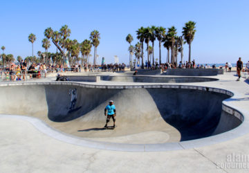 Skateboarders in Venice Beach