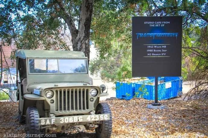 Studio Tour at Universal Studios Transformers car