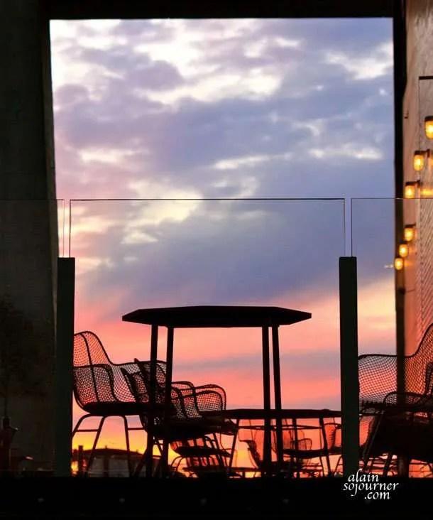 Sunset at High Line Park.