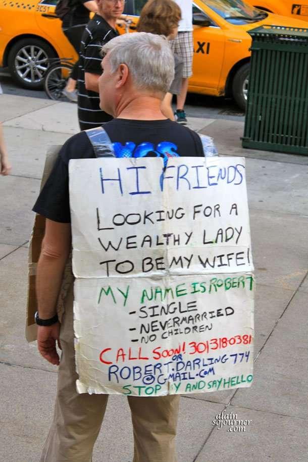 The single guy in New York.