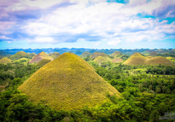 Chocolate Hills in Bohol - View from carmen Hill Peak