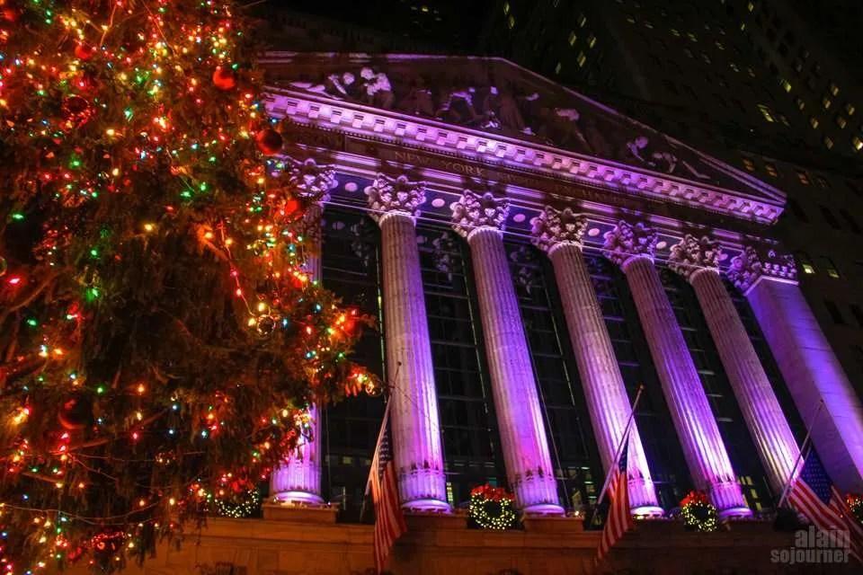Christmas Wall Street , New York.