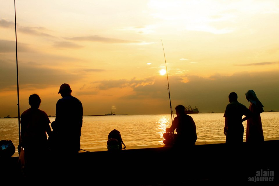 Sunset in Manila Bay, Philippines.