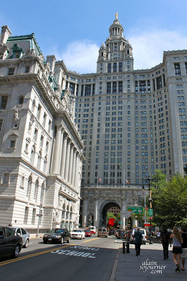 The City Hall of Manhattan in New York City.