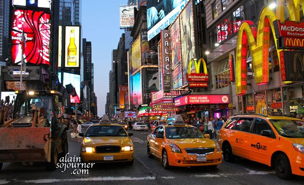 Times Square New York Yellow cab