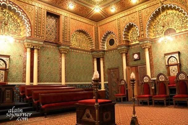 Oriental Hall inside the Masonic Temple in Philadelphia.