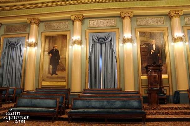 Ionic Hall inside the Masonic Temple in Philadelphia.