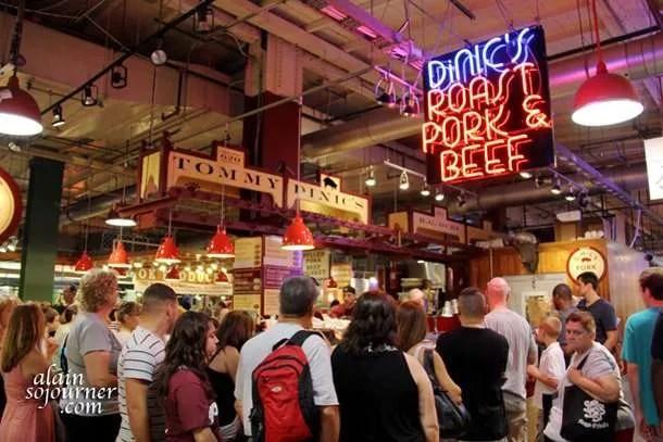 Inside the Reading Terminal Market in Philadelphia.