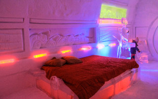 Ice Hotel / Hotel de Glace in Quebec City.