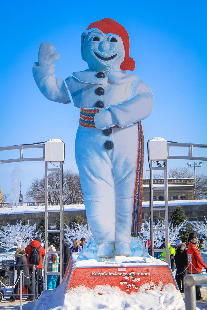 Bon Homme is the official snowman mascot of 2015 Winter Carnaval in Quebec City.