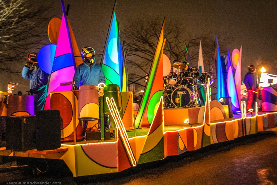 2015 Winter Carnaval Parade in Quebec City.