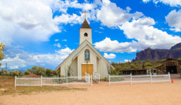 The Elvis Presley Chapel in Superstition Mountain, Phoenix, Arizona.