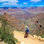 Views of the Bright Angel Trail at the Grand Canyon