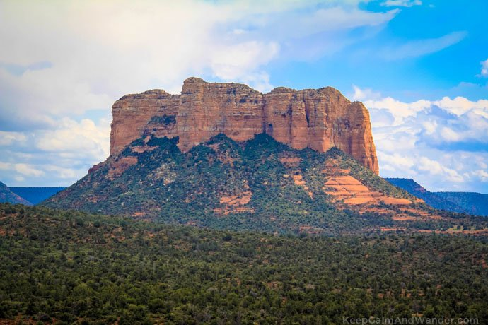 The Courthouse Butte in Sedona.