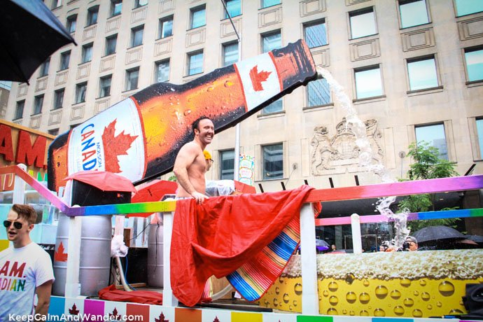 Molson Canadian at Toronto Pride Parade 2015.