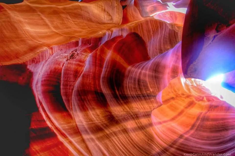 Antelope Slot Canyon in Page, Arizona.