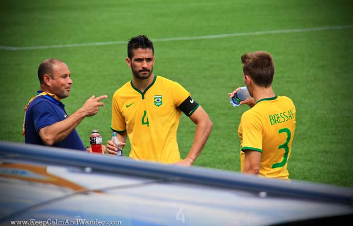Brazil and Panama Soccer Match at PanAm Games / Toronto 2015.