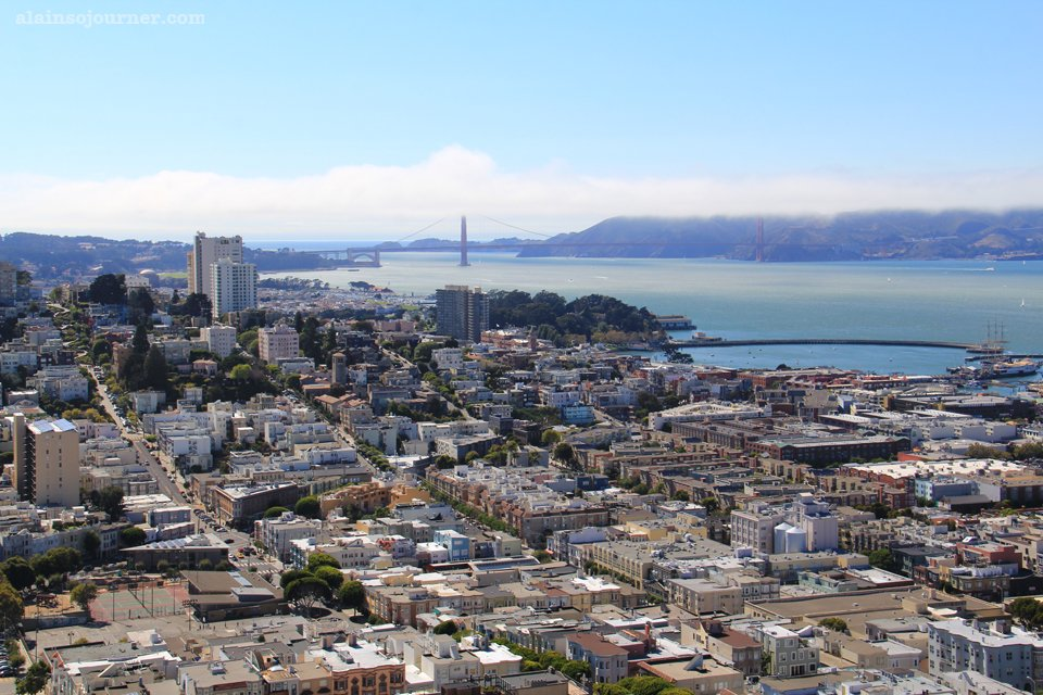 Coit Tower San Francisco Skyline Panorama 1