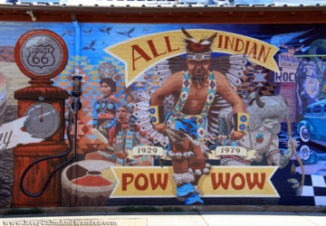 Murals in Flagstaff, Arizona.