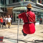 Explain this to me: Floating Busker
