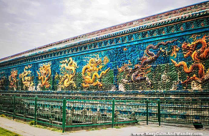 Nine Dragon Screen in Datong, China.