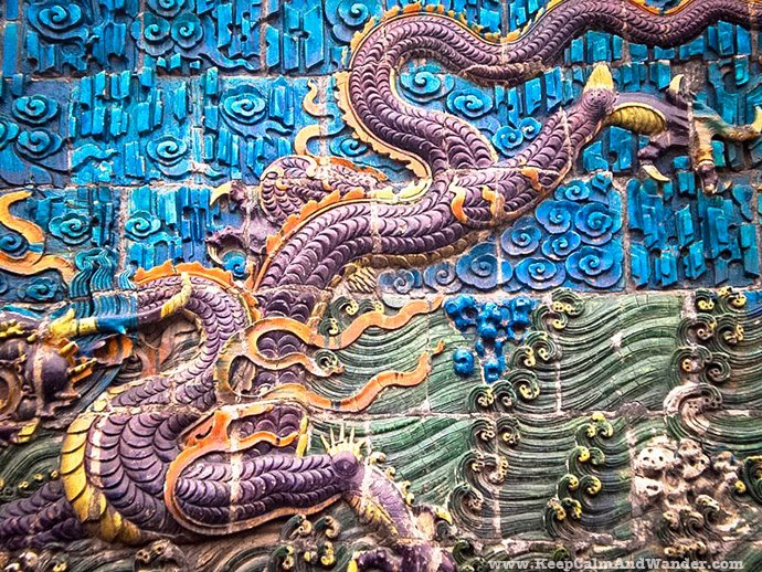 Nine-Dragon Screen in Datong, China.